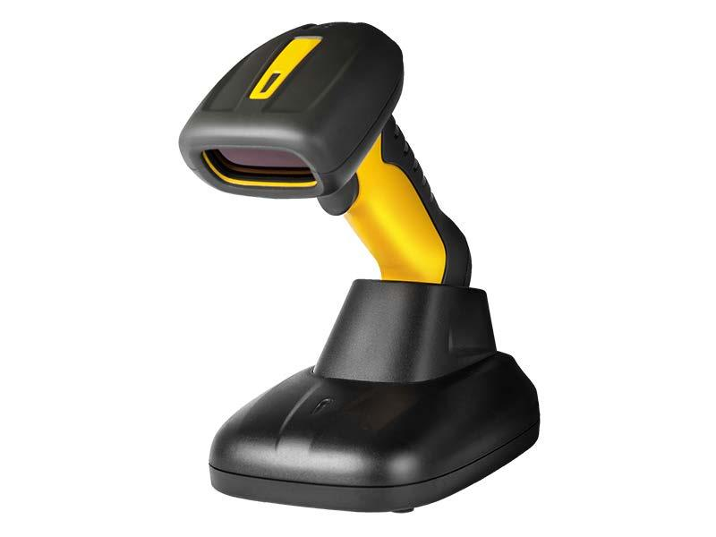 Wireless 2D barcode reader with base Lecteur code à barres 2D avec sabot