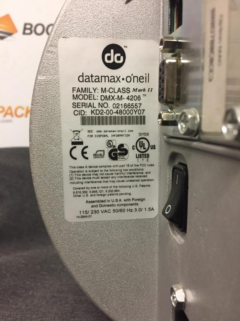 Thermal barcode label Datamax O'neil M-4206 imprimante a etiquettes code à barres
