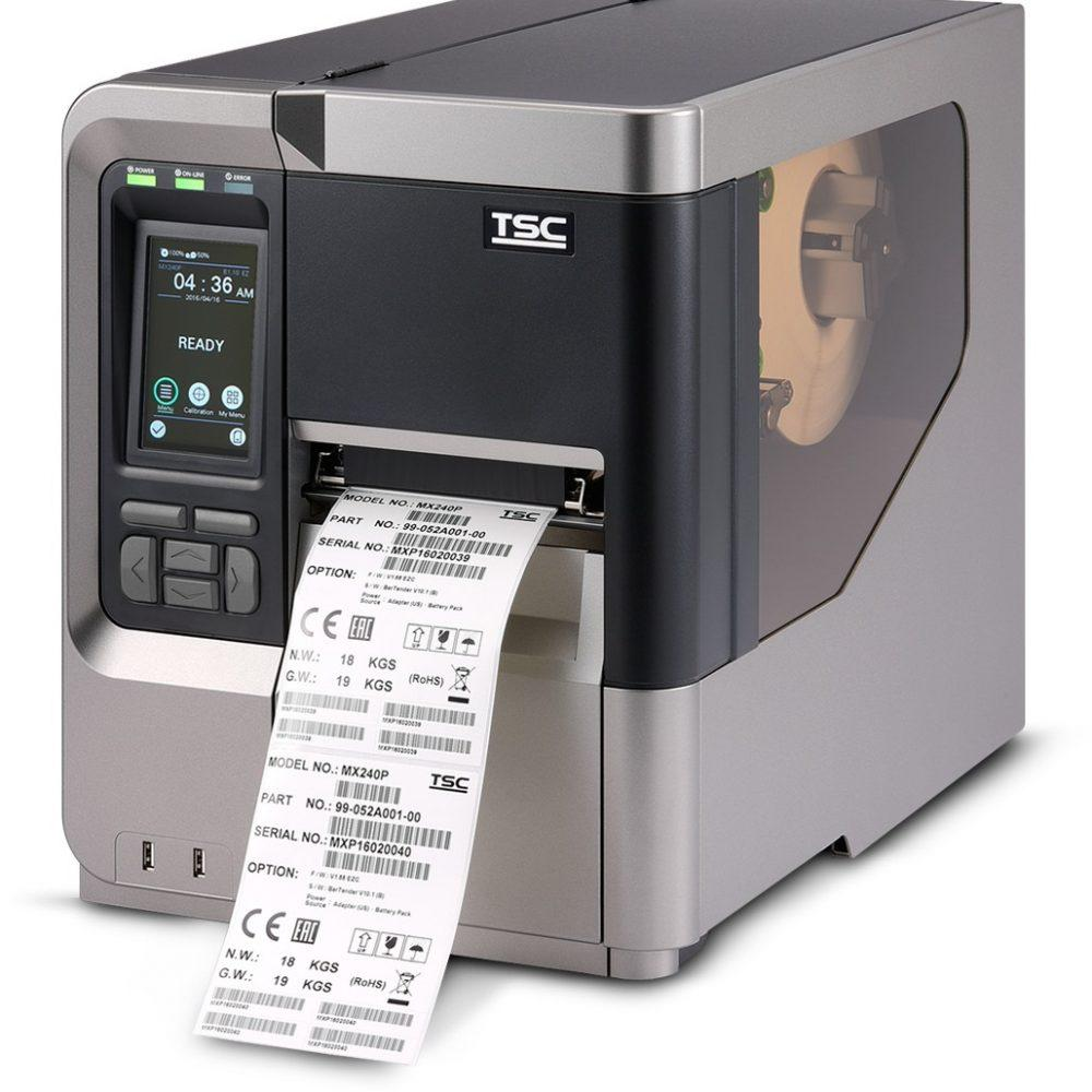 Thermal barcode label TSC MX240P imprimante a etiquettes code à barres