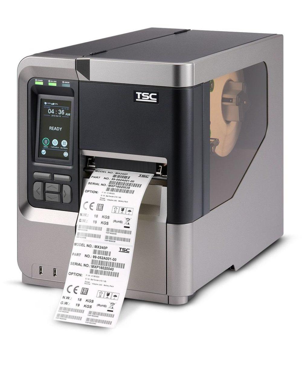 Thermal barcode label TSC MX240P imprimante a etiquettes code à barres