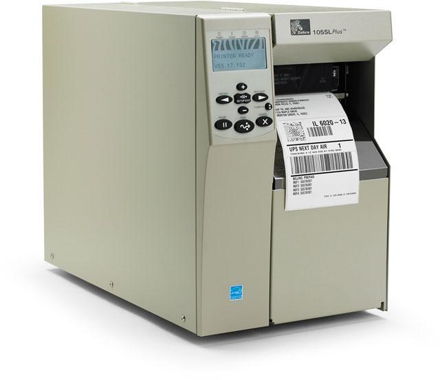 Thermal barcode label Zebra 105SL Plus imprimante a etiquettes code à barres