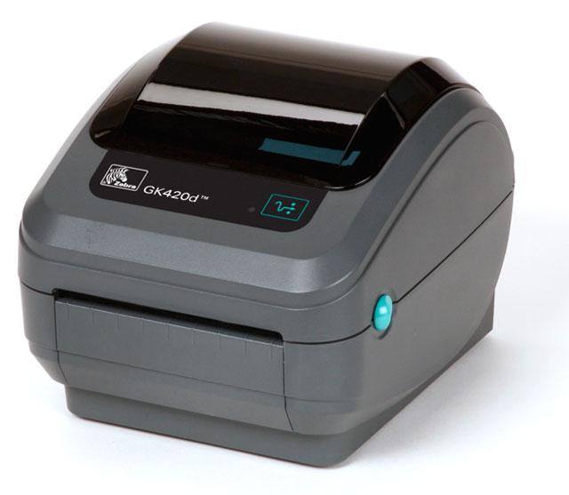 Thermal barcode label Zebra GK420d imprimante a etiquettes code à barres