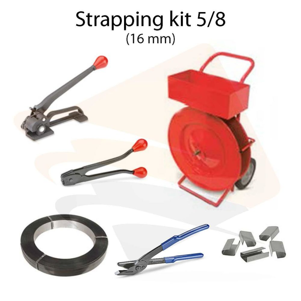 Steel strapping kit 5/8""